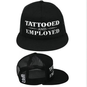 Other - BARELY WORN TATTOOED AND EMPLOYED SNAPBACK HAT
